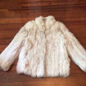 Real fur fox jacket size S